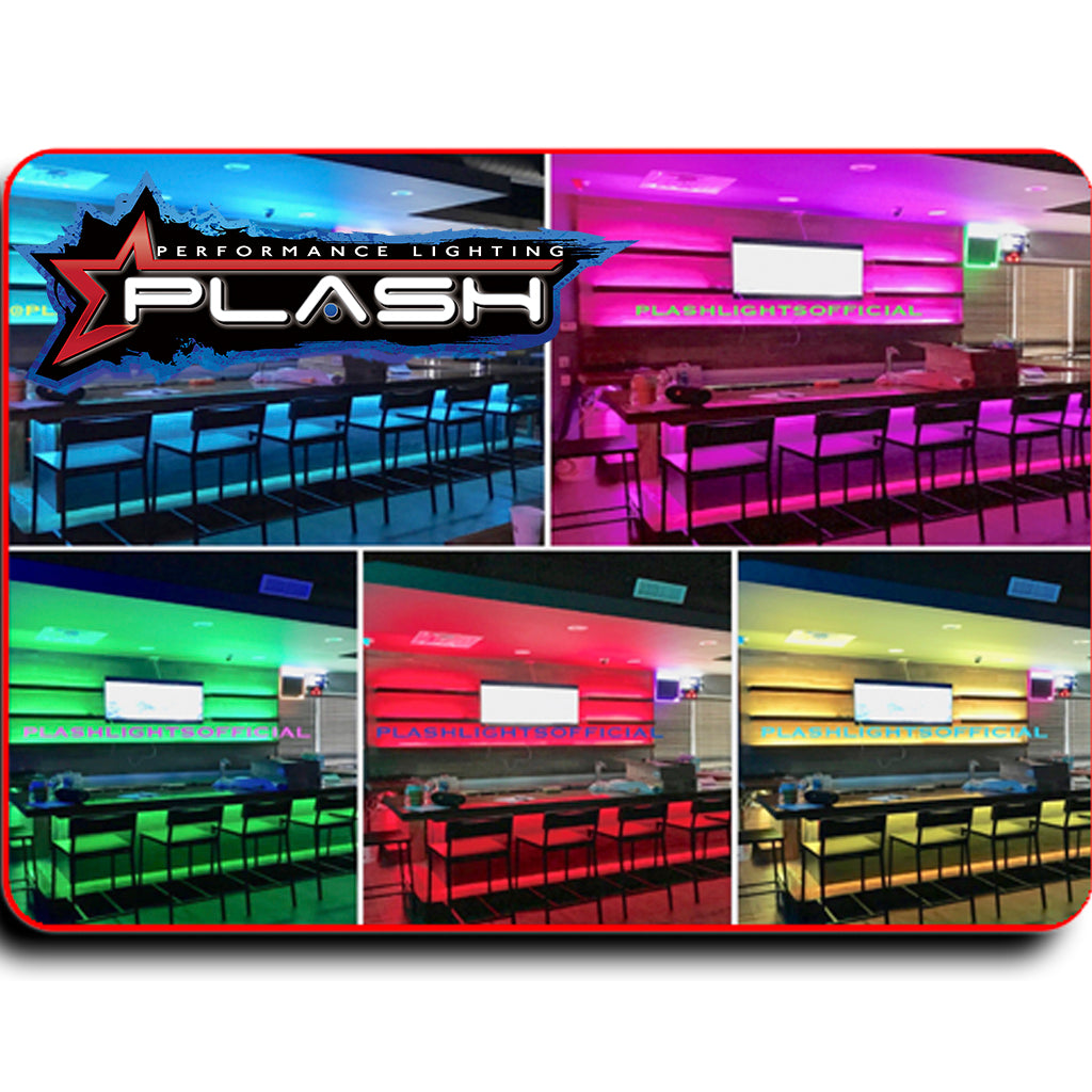 RGB 24V Color Changing Strip Light for Palapa Bar IP68 Marine Rated waterproof