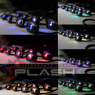 RGB Color Changing Rock Light Kit for Sema Truck