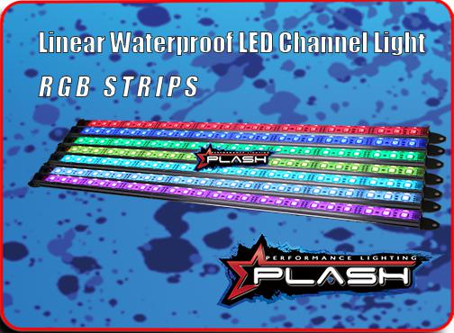 Linear Waterproof LED Channel Light Strips for RGB