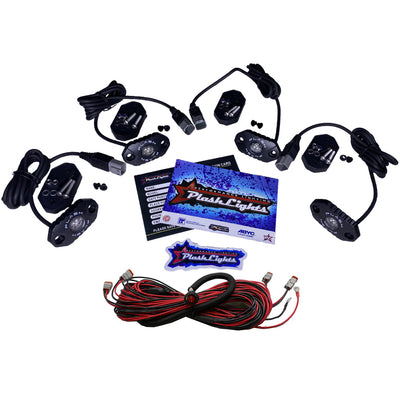 PlashLights LED Rock Lights Sema Truck Underglow Accent Kit