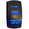 PLASH Double Row Light Bar -  Rocker Switch