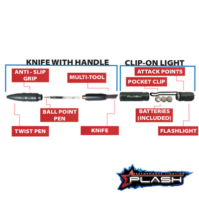 PlashLights MultiFunctional Tactical Pen Chart