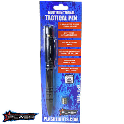 PlashLights MultiFunctional Tactical Pen in the Package with 3 Batteries