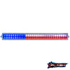 40 Inch Texas Flag Light Bar Red White Blue LED White Housing Lights Texan Backlit