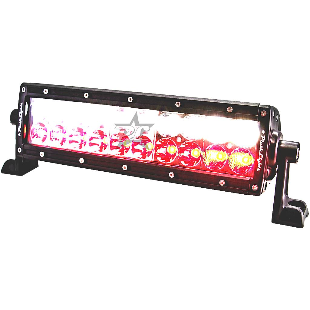 PlashLights Dual Color LED Hunting Light Bar RED WHITE Color Night Vision Stealth predator hunt kill
