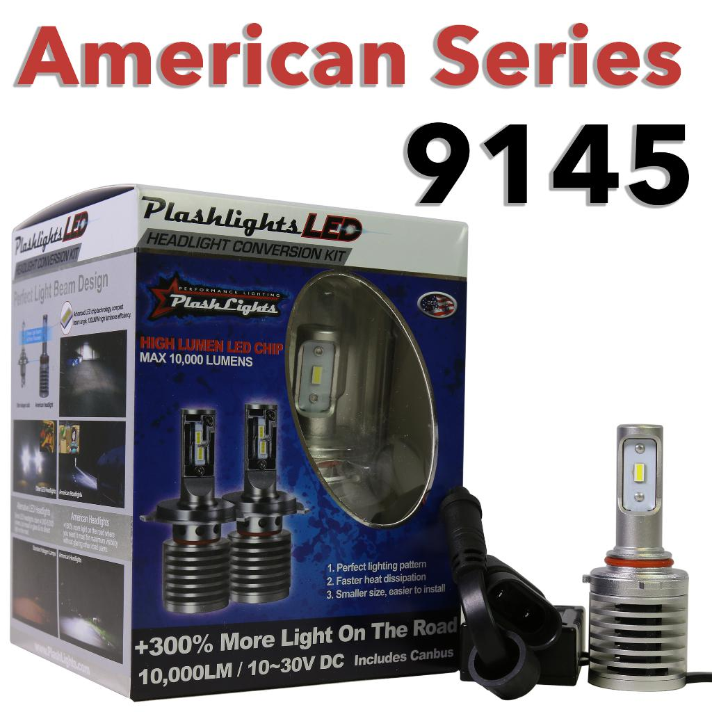 American Series 9145 Brightest LED Headlight Ford Fog Light Replacement