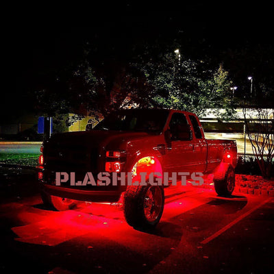 RED LED Rock Lights Boat Deck Underglow Accent Ford Truck