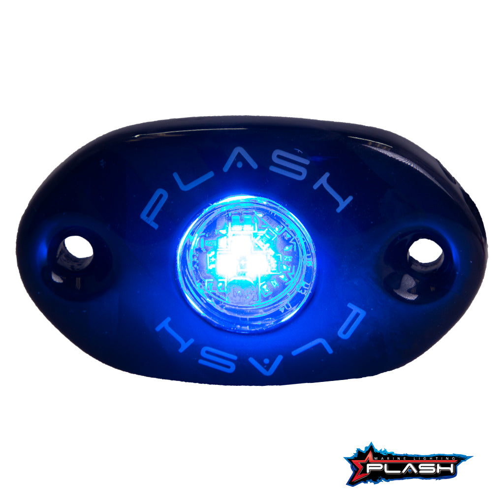 CORPUS - Carbon Fiber LED Deck Light Blue Light Turned On