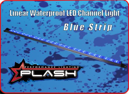 Linear Waterproof LED Channel Light Strip for Blue