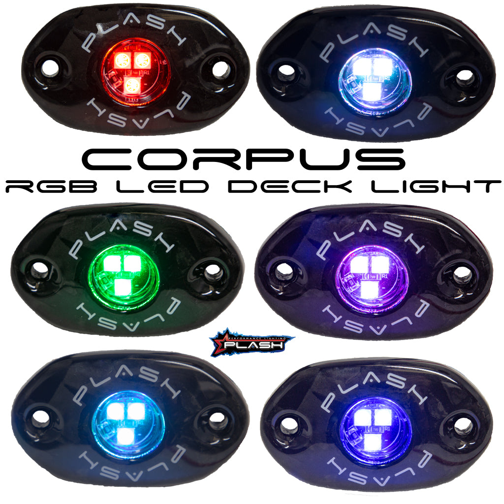 CORPUS - RGB Carbon Fiber LED Deck Light - Black Housing