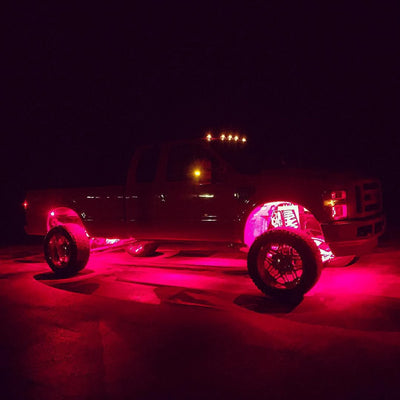 RED LED Rock Lights Boat Deck Underglow Accent Ford Superduty