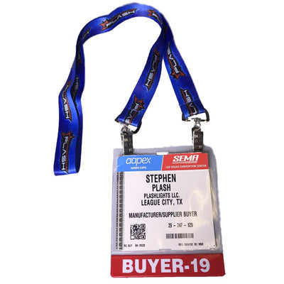Plash Trade Show Lanyard with Name Tag