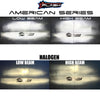 American Series 5202 Brightest LED Headlight Conversion Chevrolet Fog Light Comparison PLASH vs HALOGEN - HIGH BEAM LOW BEAM