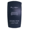Double Row LED Light Bar -  Rocker Switch