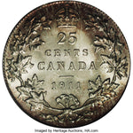 Canada: George V 25 Cents 1911, KM18, MS65 PCGS,