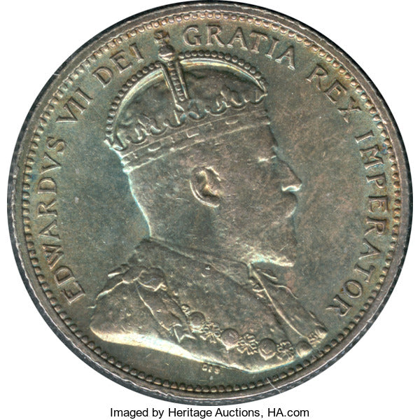 Canada: Edward VII 25 Cents 1906 Large Crown