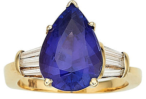Tanzanite, Diamond, Gold Ring