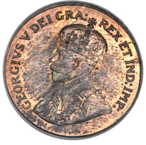 Canada: George V Specimen Cent 1921 SP64 Red and Brown PCGS