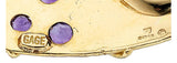 Amethyst, Ancient Coin, Gold Brooch, Elizabeth Gage, English