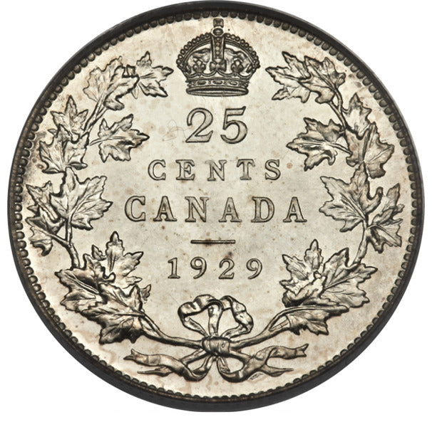 Canada: George V Specimen 25 Cents 1929 SP68 PCGS