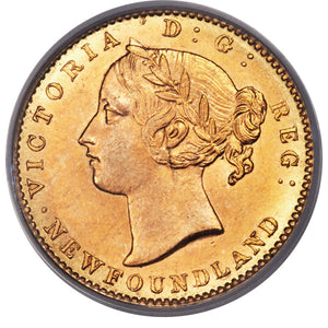 Canada: Newfoundland. Victoria gold 2 Dollars 1881 MS64 PCGS