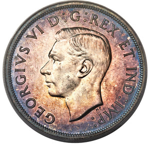 Canada: George VI Specimen Dollar 1947 Pointed 7