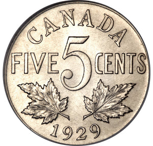 Canada: George V Specimen 5 Cents 1929
