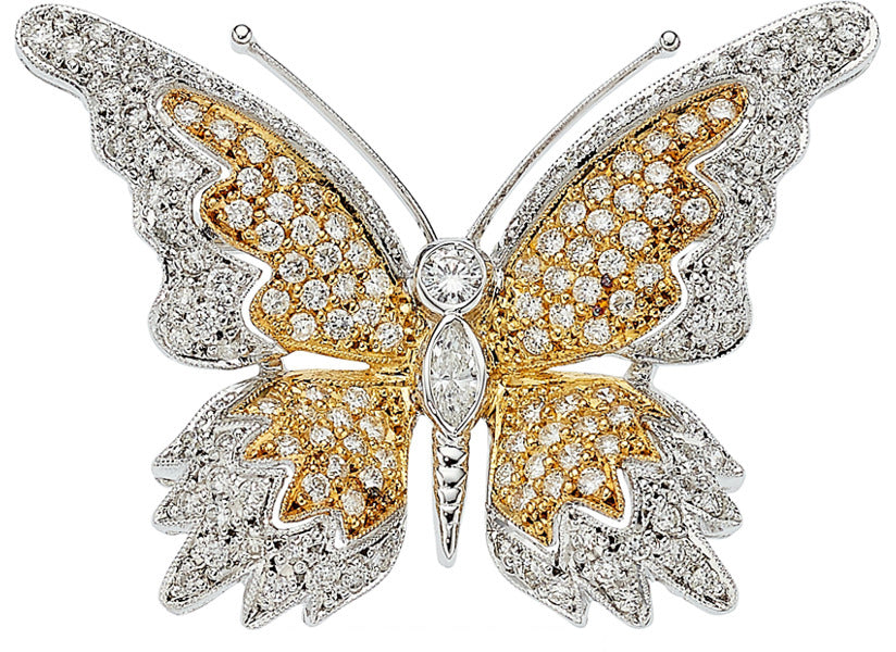 Diamond, Gold Brooch