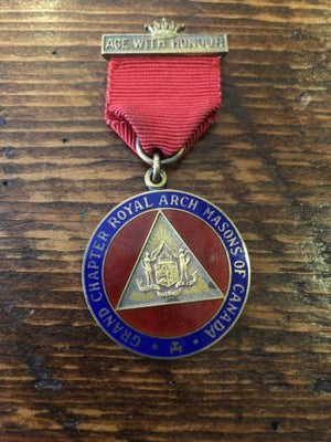 Masonic 1923 Age with Honor A ROYAL ARCH MASON CANADA Sterling