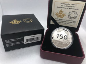 2017 Special Edition Proof $1 Fine Silver coin - Our Home & Native Land