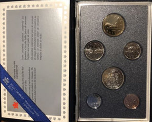 1988 Canadian 6pcs specimen Set
