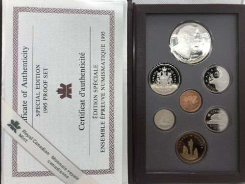1995 Canada Special Edition 7 pcs Proof Set w/ Commemorative & Peace keeping $1
