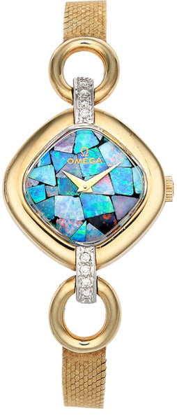 Omega Lady's Opal, Diamond, Gold Watch