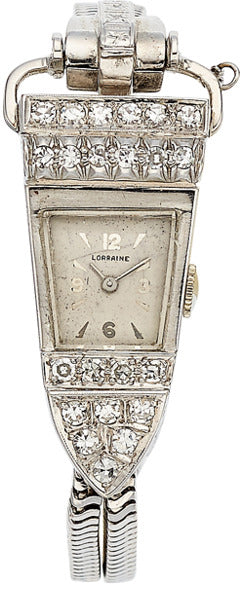 Swiss Lady's Diamond, White Gold Watch