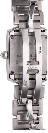 Cartier Lady's Diamond, White Gold Tank Francaise Watch