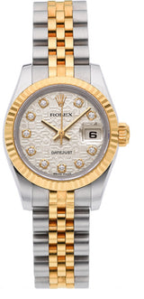 Rolex Lady's Diamond, Gold, Stainless Steel DateJust Watch