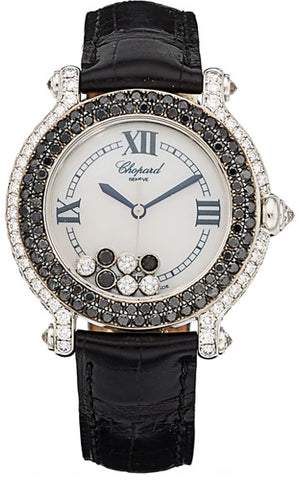 Chopard Lady's Diamond, Colored Diamond, White Gold Happy Sport Watch