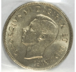 Canada: George VI Lot of Two 5 Cent Coins