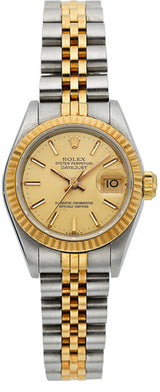 Rolex Lady's Gold, Stainless Steel Oyster Perpetual Datejust Watch, circa 1987