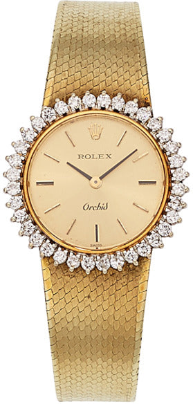 Rolex Lady's Diamond, Gold Watch