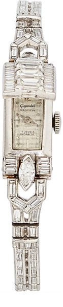 Bulova Lady's Diamond, Platinum Watch