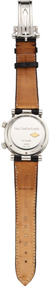 Van Cleef & Arpels Gentleman's Stainless Steel Automatic World Time Watch with Alarm