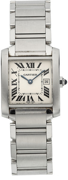 Cartier Unisex Tank Francaise Stainless Steel Watch