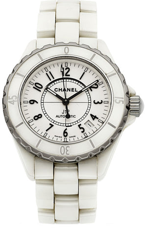Chanel Lady's White Ceramic, Stainless Steel J12 Watch