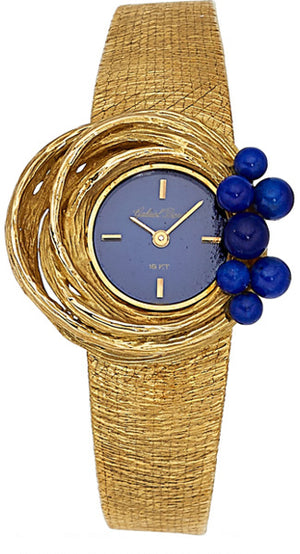Swiss Lady's Lapis Lazuli, Gold Watch