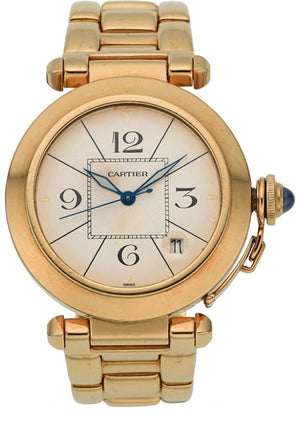 Cartier Unisex Gold Pasha Automatic Watch, circa 1990