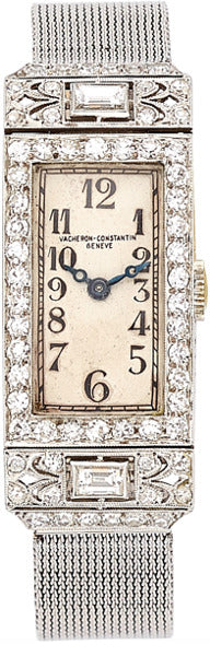 Art Deco Vacheron Constantin Lady's Diamond, Platinum Watch