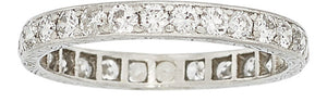Art Deco Diamond, Platinum Eternity Band
