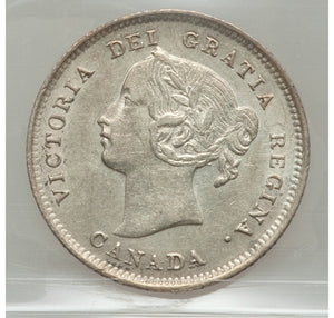 Canada: Victoria 5 Cents 1897 Slender 8
