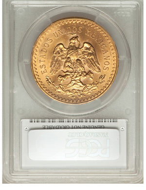 Mexico: Republic gold 50 Pesos 1946 UNC Details (Cleaning) PCGS
